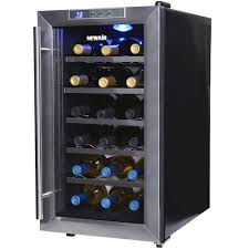 NewAir AW-320ED 32-Bottle Dual-Zone Thermoelectric Wine Refrigerator, Black