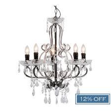 audrey 5 arm chandelier