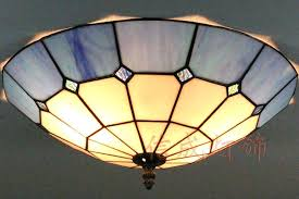 stained glass ceiling light shades style lights blue and white squares font b pattern hanging