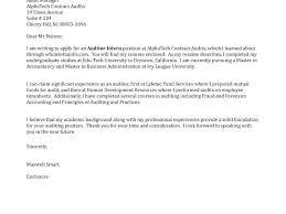 Assistant Auditor Cover Letter Download Writing For Internship Audit