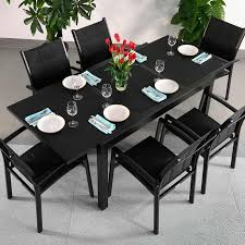compact design makes this daisy black 6 seater extending dining table ideal for space saving