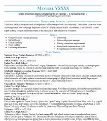 Nhs Resume Examples National Honor Society Member Resume Example Walnut High
