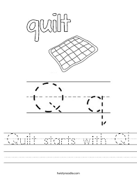 Quilt starts with Q Worksheet - Twisty Noodle & Quilt starts with Q! Worksheet Adamdwight.com