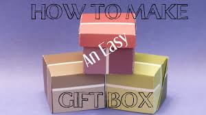 diy crafts how to make an easy gift box gift box making with paper you