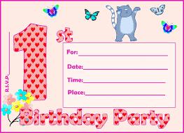 free printable 1st birthday party invitations find your printable 1st birthday invitation