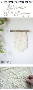 Finished decor size is about w32 cm x l50 cm. Free Crochet Pattern The Bohemian Wall Hanging Megmade With Love