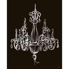 elegant chandelier i canvas