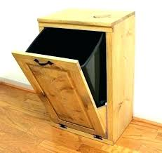 wood trash can bin cabinet plans