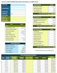 Amortization Schedule Template Excel Excel Loan Amortization Table