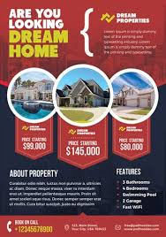 Real Estate Brochure Template Free Real Estate 2 Free Psd Flyer Template Free Psd Flyer