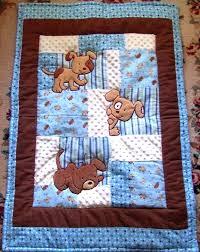 Modern Baby Boy Quilt Kits Easy Baby Boy Quilt Kits Puppy Baby ... & Modern Baby Boy Quilt Kits Easy Baby Boy Quilt Kits Puppy Baby Quilt Minky  Flannel Blanket Adamdwight.com