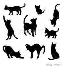 猫のシルエット Zwierzęta 猫 シルエット猫 イラスト シルエット