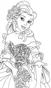 Small Picture Get This Belle Coloring Pages Disney Princess for Girls 361548