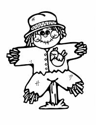 Small Picture Free Printable Scarecrow Coloring Pages For Kids And glumme