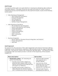 Sample Audit Program Unique Sample Audit Plan
