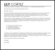 Experienced Teacher Cover Letters Physical Education Teacher Cover Letter Sample Cover Letter