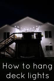 hang lighting. How To Hang Deck Lights On Poles #EnbrightenLife Lighting N