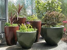 large cement planters. Large Cement Planters Concrete A Beautiful Collection Of Stained Pots And Bowels Making .