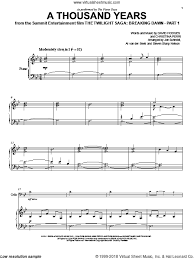A Thousand Years Sheet Music Guys A Thousand Years Sheet Music For Cello And Piano Pdf