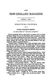 young goodman brown  young goodman brown the new england magazine 1835 jpg