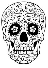 Sugar Skull Coloring Pages Getcoloringpages Free Printable Sugar
