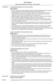 Program Manager Resume Examples Acquisition Program Manager Resume Samples Velvet Jobs