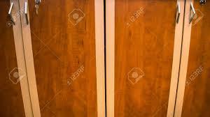 Wooden Wardrobe Door Designs Wooden Oak Wardrobe Door Two Handles Closeup