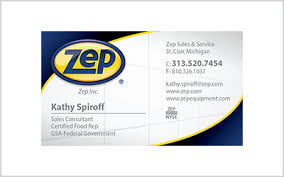 Business Card For Zep Inc Rep Ideabug Media