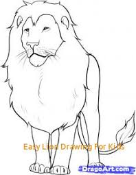 easy lion drawings. Modren Easy Easy Lion Drawing For Kids How To Draw A In Drawings