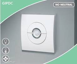 gipdc pir movement sensor switch gang wire a no neutral pir movement sensor switch 1 gang 2 wire 10a no neutral presence detector timer switch for any load