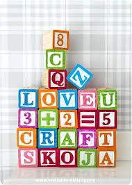 colorful wooden blocks via diy for babies block toys to entertain your kids