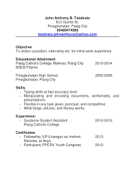 Fancy Mga Sample Ng Resume Model Example Resume And Template Ideas