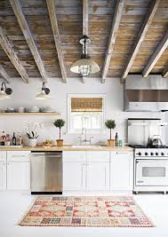 Wood ceiling kitchen Wood Beams Rustic Wood Ceilings Kitchen Cococozy Chicwoodceilingsorganizedkitchencococozymydesignchic Cococozy