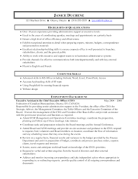 Resume Examples Resume Templates For Executive Assistant Office