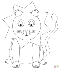 Cute Cartoon Lion Super Coloring Circus