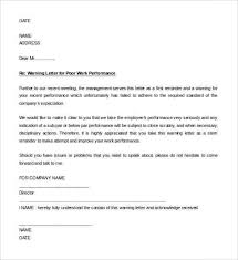 sample letter employee 23 hr warning letters free sample example format free for