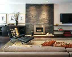 stone wall living room fireplace home design ideas pictures remodel and decor within feature slate tiles