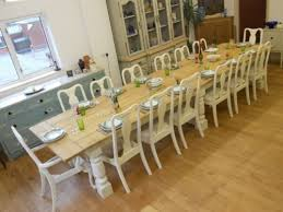 101214161820 Seater Dining Table2 Oak Planked Toptriple Large Dining Room Table  Seats 16 Simple Design Decor ...