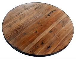 round reclaimed wood tabletops restaurant cafe