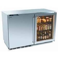 perlick outdoor double refrigerator with integrated door and overlay glass door requires custom panels