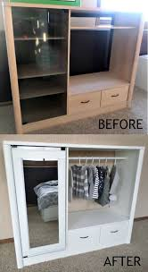 bedroom furniture makeover. diy entertainment center turned into kids closet armoire furniture makeover bedroom