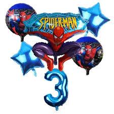 <b>6pcs</b>/<b>lot</b> Spiderman <b>Balloon</b> 32 inch Number <b>Balloon</b> Set Spiderman ...