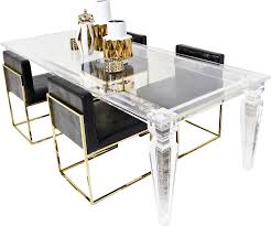 best mod lucite palm beach dining table reviews wayfair with plexiglass dining table remodel