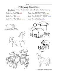 following directions worksheet 2 following directions worksheet coloring have fun teaching on preposition worksheets first grade