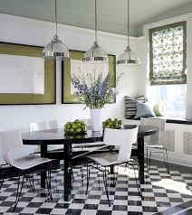 set of ivory lacquer chairs with black legs for the modern black and white dining room