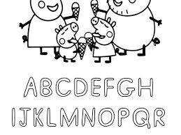 There are over 30 printable peppa pig coloring pages in this post. Free Printable Peppa Pig Abc Coloring Pages For Preschoolers Tulamama
