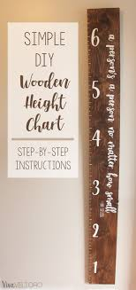 Diy Height Chart Diy Wooden Growth Chart For Kids Step By Step Instructions