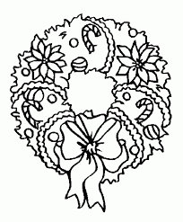 Small Picture Christmas Wreath Coloring Pages animebgx