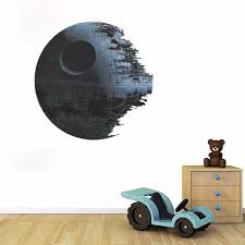 Star Wars Decorations For Bedroom 45cm Removable Death Star Wars Wall Stickers Art Vinyl Decal Kids