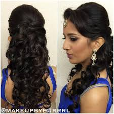 Hair Style Curling 27 best hairstyles for sarees in 2017 new ideas you will love 4016 by wearticles.com